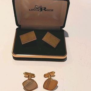 Two sets of vintage cufflinks